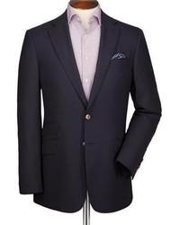 Charles Tyrwhitt Navy Classic Fit Textured Wool Blazer