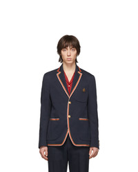 Gucci Navy Cord Cover Blazer