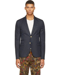 Valentino Navy Cotton Twill Blazer