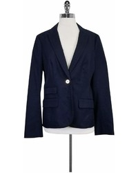 Tory Burch Navy Gold Button Blazer