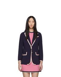 Gucci Navy Stretch Cady Jacket