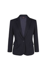 New Look Navy Textured Jersey Blazer