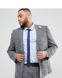 Gianni Feraud Plus Skinny Fit Nepp Suit Jacket