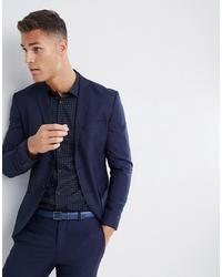 Jack & Jones Premium Suit Jacket In Super Slim Fit Navy
