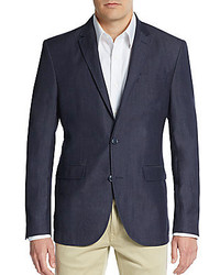 Sand Regular Fit Wool Linen Blazer