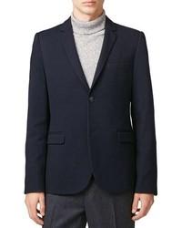 Topman Skinny Fit Pique Jersey Blazer
