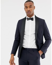 ASOS DESIGN Skinny Tuxedo Suit Jacket In Navy