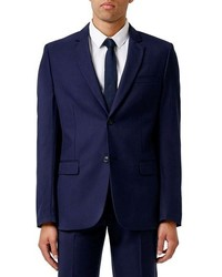 Topman Slim Fit Dark Blue Suit Jacket