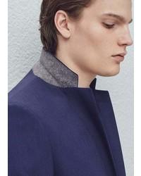 Mango Outlet Slim Fit Patterned Suit Blazer