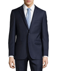 DKNY Slim Fit Solid Twill Two Piece Suit Navy