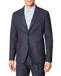 Good Man Brand Slim Fit Windowpane Stretch Cotton Sport Coat
