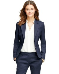 Brooks Brothers Stellita Fit Two Button Linen Blend Jacket
