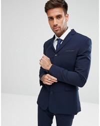 ASOS DESIGN Super Skinny Four Button Suit Jacket In Navy