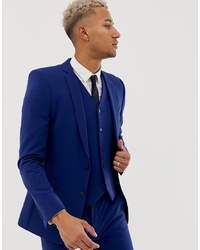 ASOS DESIGN Super Skinny Suit Jacket In Bright Blue