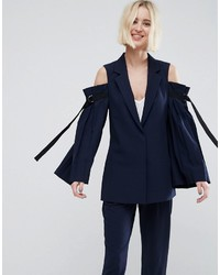 Asos Tailored Cold Shoulder Blazer With Sleeve Drama