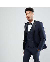 Harry Brown Tall Plain Black Slim Tuxedo Suit Jacket