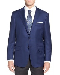 Hickey Freeman The Traveler Classic Fit Solid Wool Sport Coat