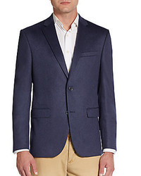 Saks Fifth Avenue RED Trim Fit Zeiss Solid Cashmere Sportcoat