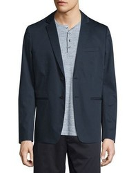 Vince Unconstructed Two Button Sateen Jacket Navy