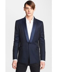Versace Collection Versace Jacquard Shawl Lapel Sportcoat