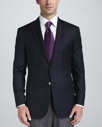Wool twill blazer navy medium 9345