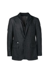 Corneliani Zip Detail Fitted Blazer