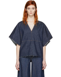 MM6 MAISON MARGIELA Blue Denim Blouse