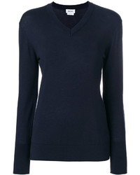 DKNY Long Sleeve V Neck Top
