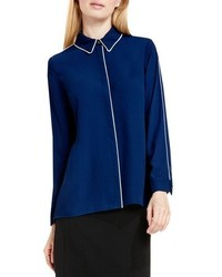 Vince Camuto Piped Trim Blouse