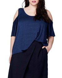 Rachel Roy Rachel Cold Shoulder Bell Sleeve Top