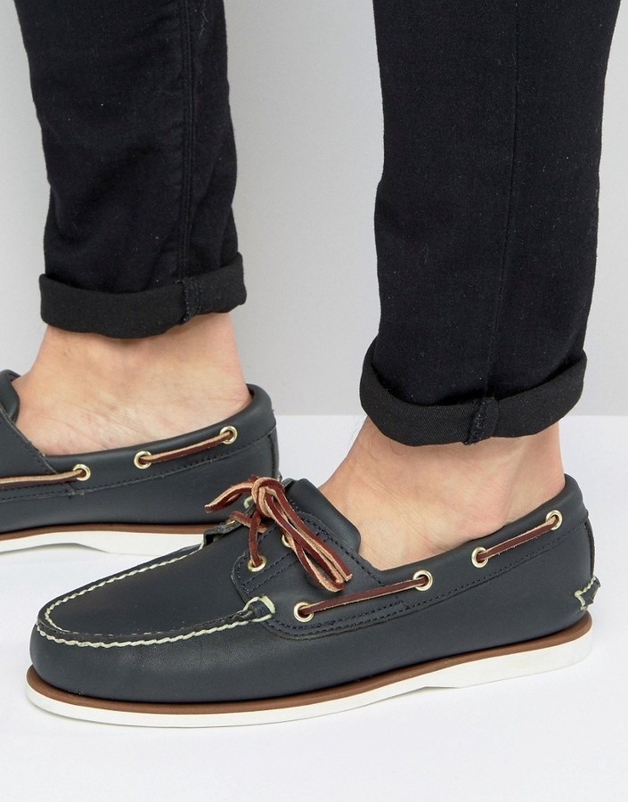 timberland classic boat shoes navy
