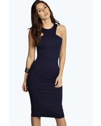 Boohoo Jennifer Cut Away Bodycon Midi Dress