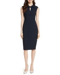 London kezzia bow neck body con dress medium 5034875