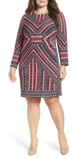 $158, Vince Camuto Plus Size Crepe Body Con Dress