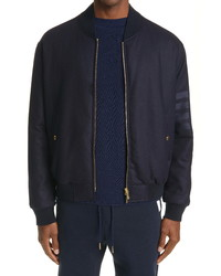 Thom Browne 4 Bar Tech Wool Cashmere Down Bomber Jacket