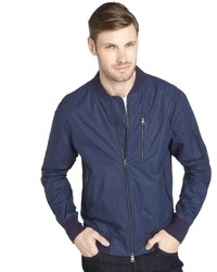 Paper Denim & Cloth Anchor Navy Reeve Cotton Bomber Jacket