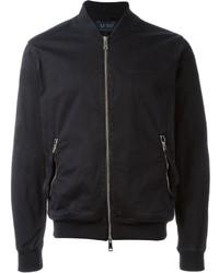 Armani Jeans Washed Effect Bomber Jacket
