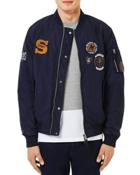 Topman Badge Ma1 Bomber Jacket