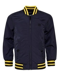 DKNY Blue Nylon Bomber Jacket