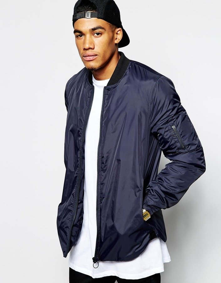Asos Brand Bomber Jacket With Curved Hem | Where to buy & how to wear