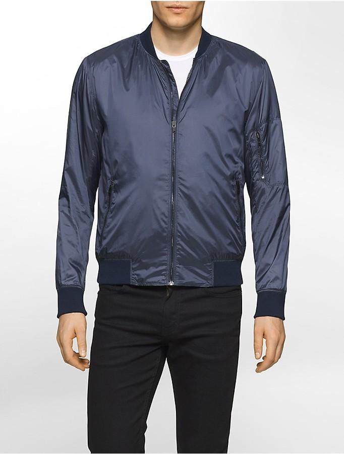 Calvin Klein Nylon Aviator Bomber Jacket   Where to buy & how to wear