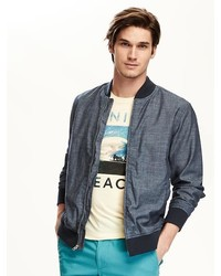 Old Navy Chambray Bomber Jacket For