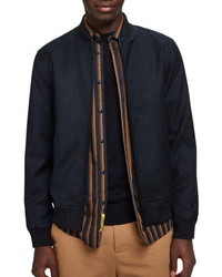 Scotch & Soda Chic Solid Bomber Jacket