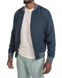 Slate & Stone Derek Linen Bomber Jacket