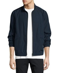 Theory Drafted Zip Blouson Bomber Jacket Blue