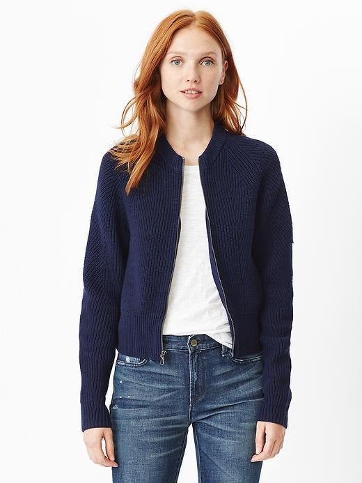 Gap Sweater Bomber Jacket | Where to buy & how to wear