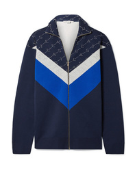 Stella McCartney Intarsia Stretch Knit Track Jacket
