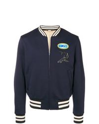 Gucci Logo Zipped Bomber Jacket