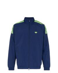 adidas Navy Blue Triple Stripe Bomber Jacket