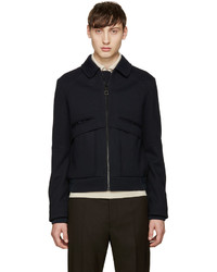 Carven Navy Collared Bomber Jacket
